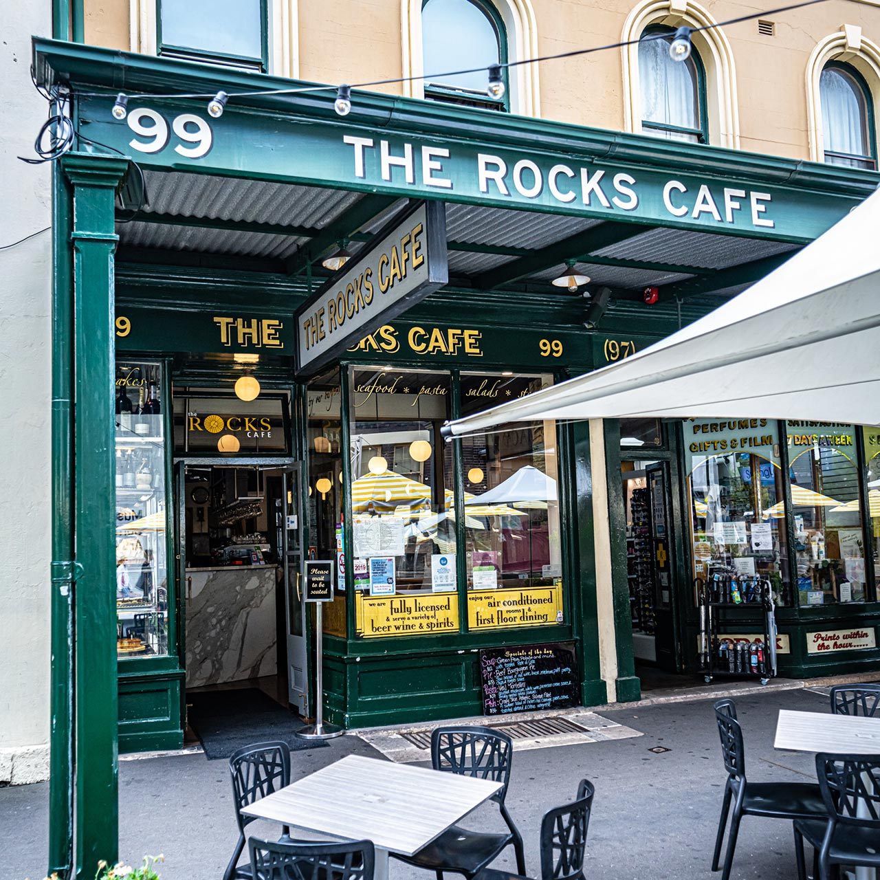 The Rocks Cafe street front