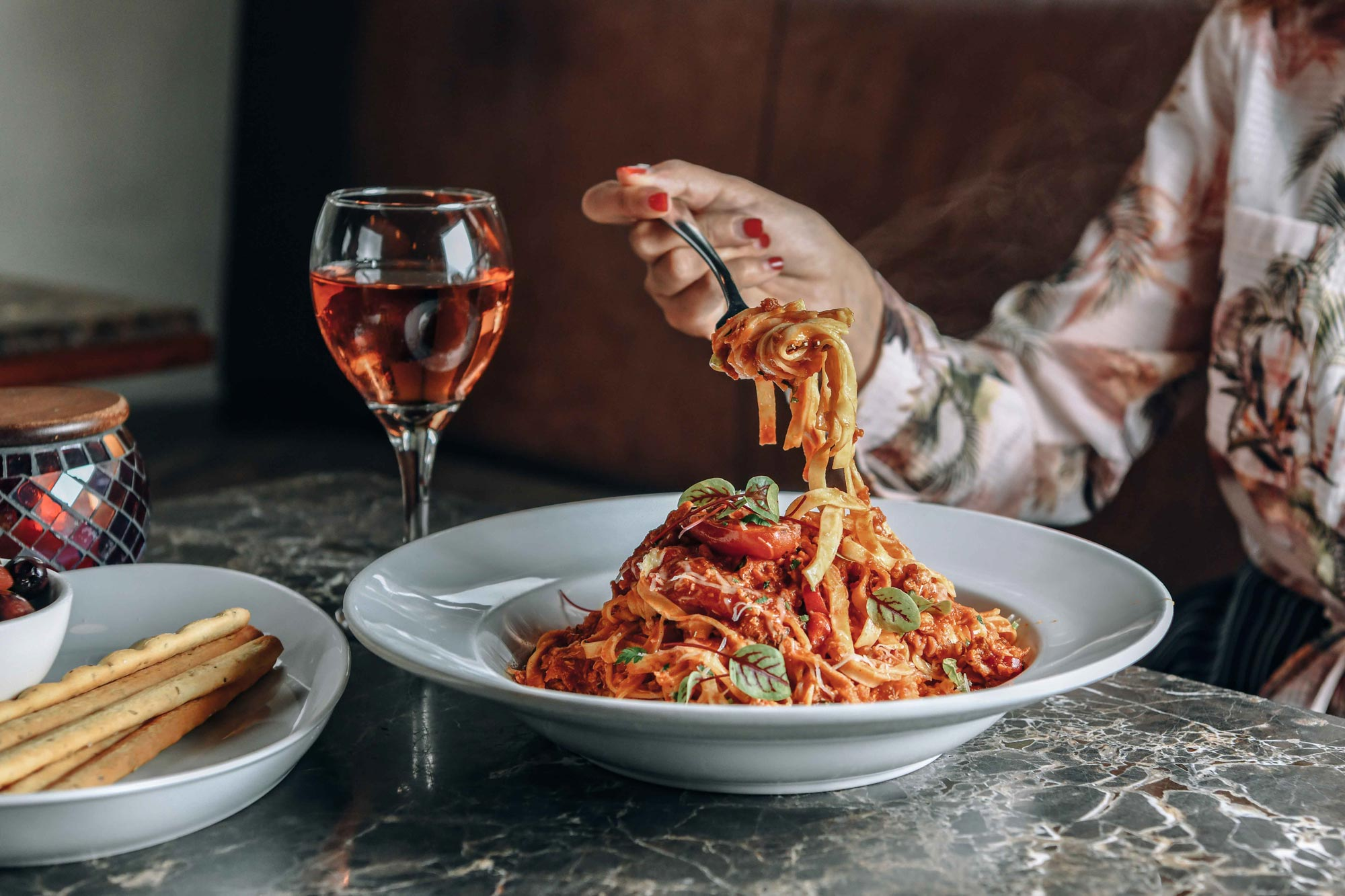 The Rocks Cafe – pasta and wine